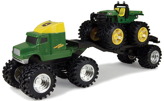 tow-along green tractor, this eight-inch John Deere Monster Tread ...