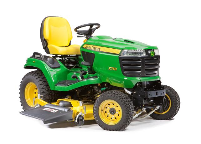 Diesel Riding Lawn Mower | X758 | Signature Series | John Deere US