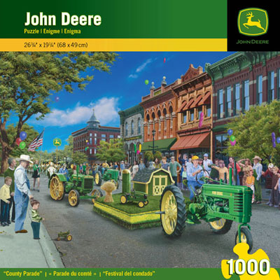 This unique 1,000-piece puzzle shows a John Deere county parade, and ...