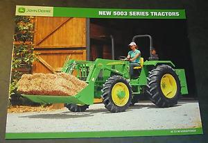 JOHN DEERE TRACTOR 5003 SERIES 45 AND 99 HP SALES BROCHURE ...