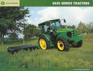 JOHN DEERE 5025 SERIES TRACTORS BROCHURE VERY NEAT | eBay