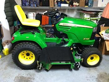 2012 John Deere X748SE, 60D 7 iron deck, mulch kit, front quick hitch ...