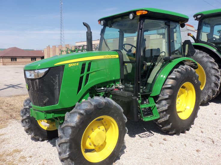 JOhn Deere 5100E 4WD cab utility tractor | John Deere Tractors / Old ...