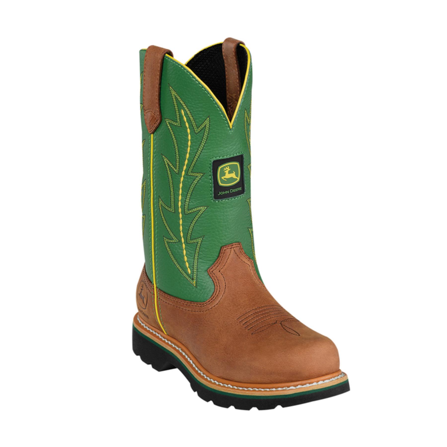 John Deere John Deere Pull-On Ladies Leather Boots - Green ...