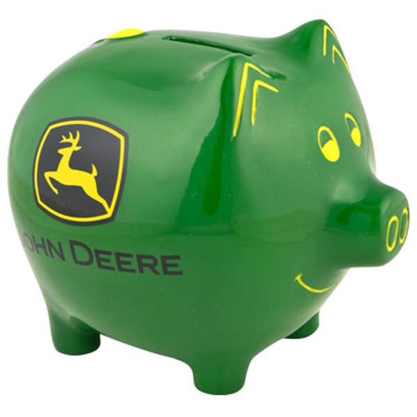 John Deere Green Piggy Bank - 6921