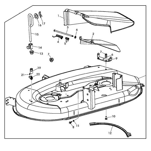 john deere mower deck parts | ebay