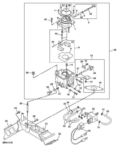 John Deere 425 Carburetor John Deere Parts John Deere Parts