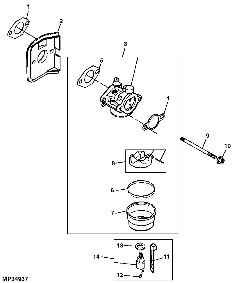 John Deere L110 Carburetor
