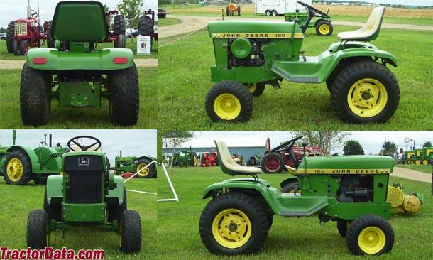 TractorData.com John Deere 120 tractor dimensions information