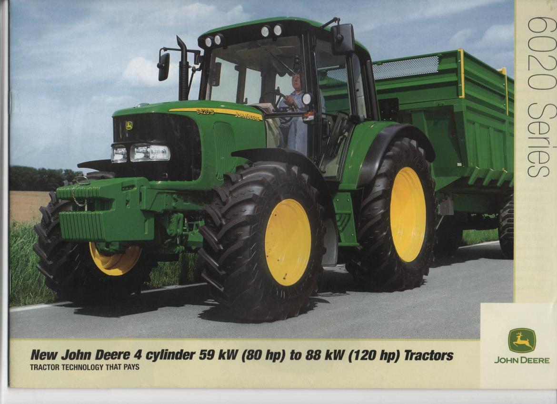 John Deere Tractor 6020 Series - 4 cylinder 59kW 80hp to ...