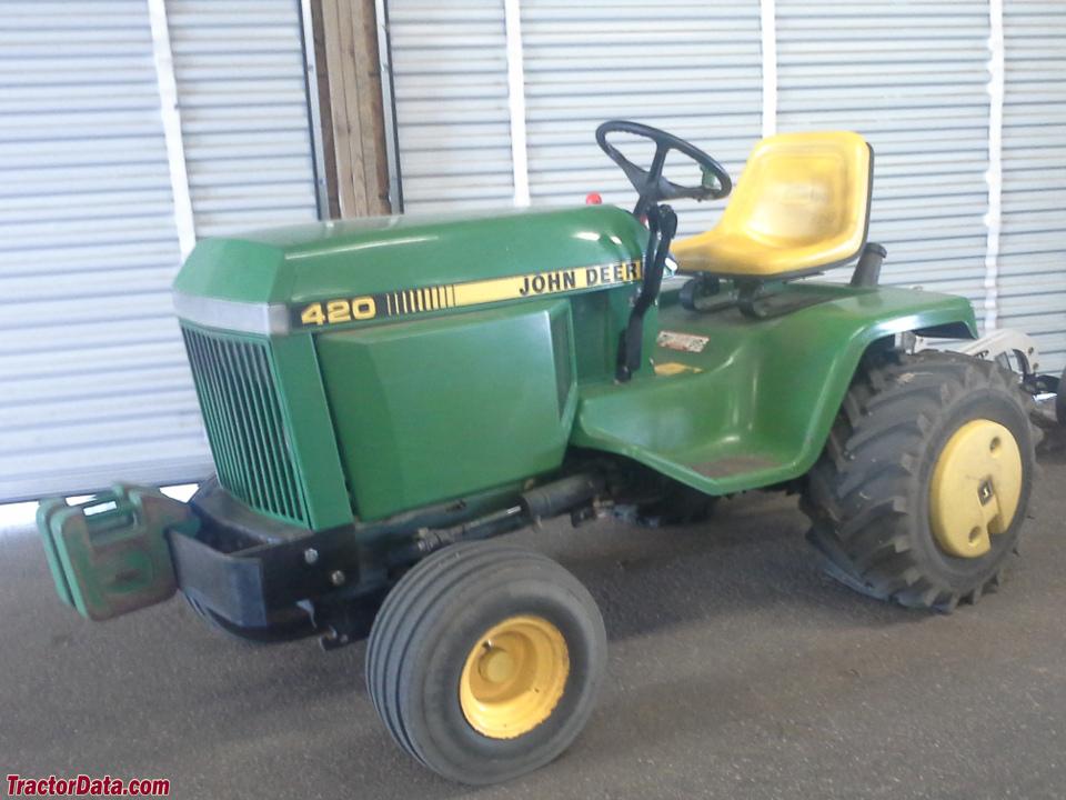 TractorData.com John Deere 420 tractor photos information