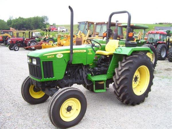 1258: JOHN DEERE 5403 FARM TRACTOR ONLY 8 HOURS!!! : Lot 1258