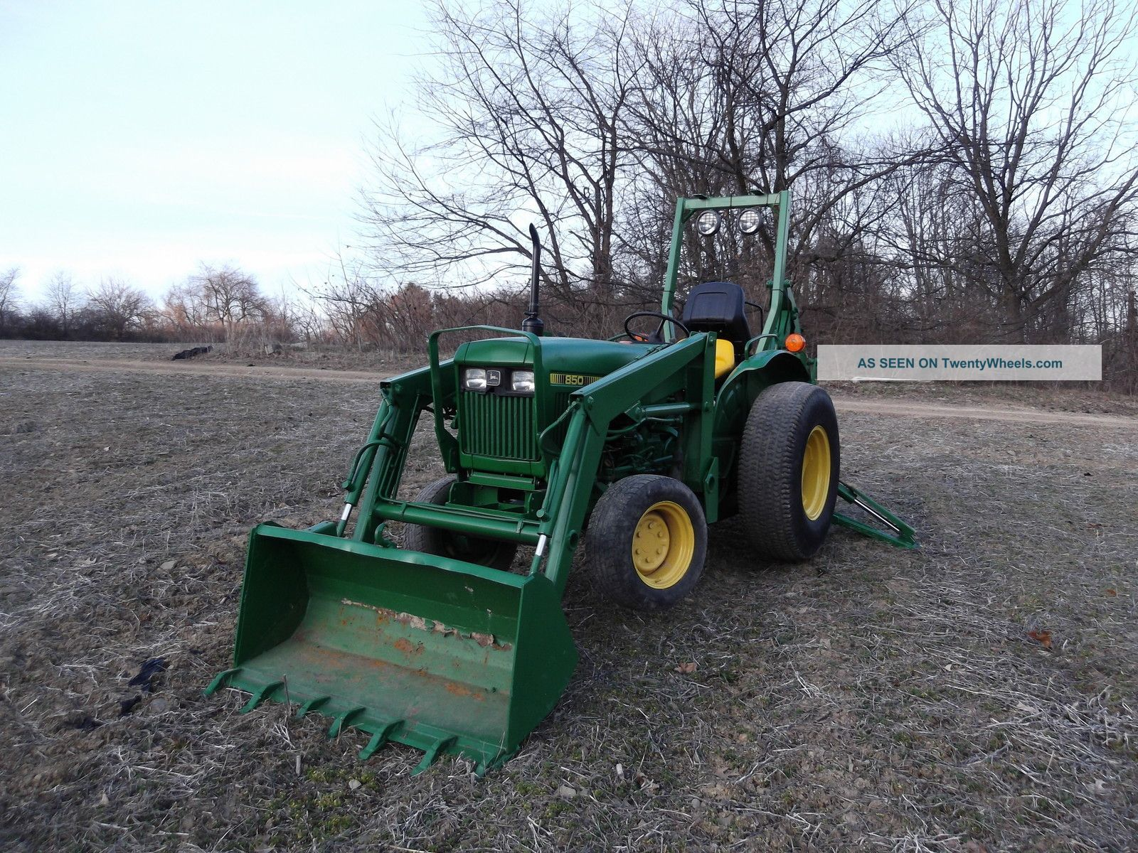 John Deere 850 4wd Diesel Tractor With Loader And Backhoe