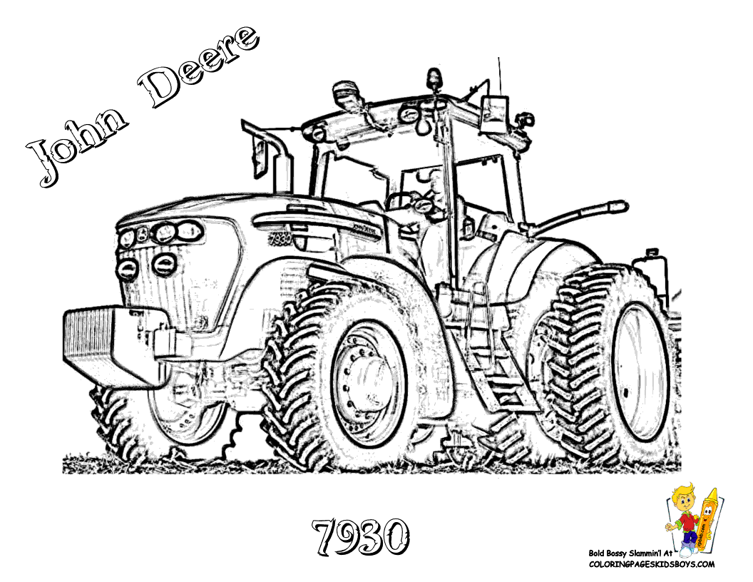 Pics Photos - 7930 John Deere Tractor Farm Coloring Picture