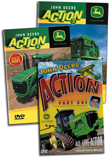 John Deere Action 3 DVD Collection Vols 1 - 3 Train Video TM Books and ...