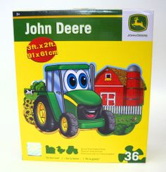 Master Pieces John Deere `On the Farm` 36 pc. Floor Puzzle Toy Toys