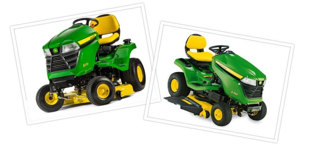 john deere x300 vs x330 lawn tractor comparison