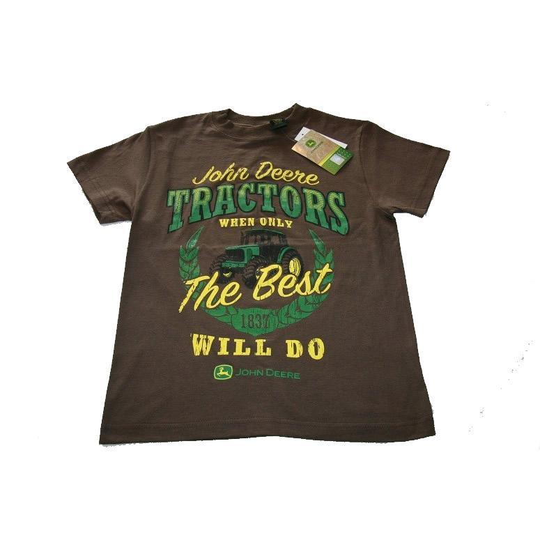 NWT John Deere Boys Tee Shirt Brown 8, 10/12, 14/16, 18