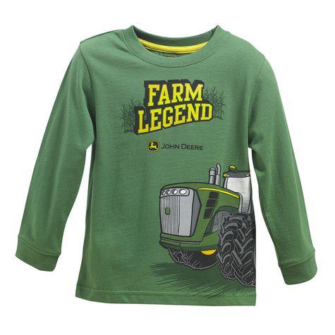 John Deere Toddler Boy Farm Legend Long Sleeve T-Shirt: Shopko