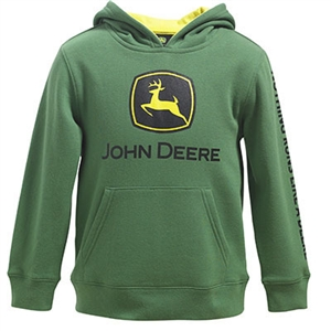 John Deere Boy's Green Logo Hooded Sweatshirt | WeGotGreen.com