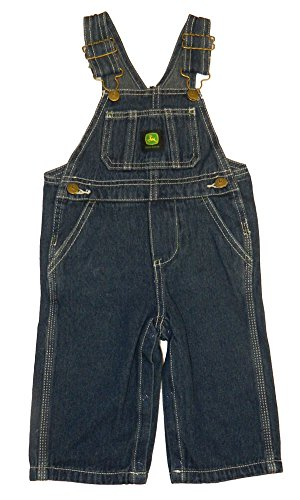 John Deere Kids Boys Soft Washed Denim Bib Overall, 7,Stonewashed ...