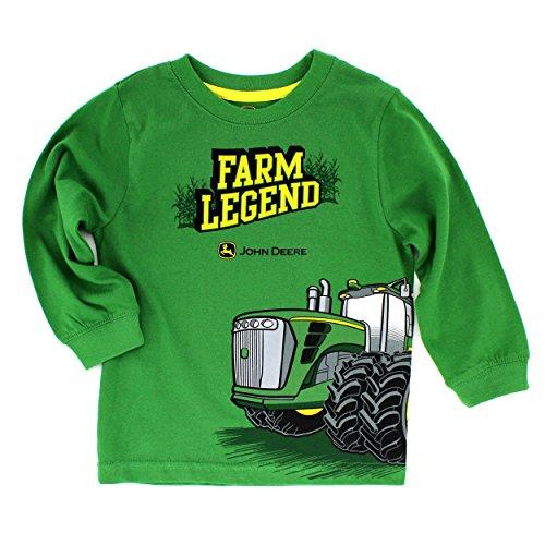John Deere Baby Toddler Long Sleeve Tee (3T, Green Farm Legend) Home ...