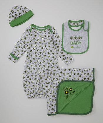 Heather Gray Farming Pajama Set – Infant
