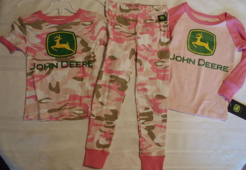 Deere . John Deere Gilrs S 4 Pink Camo Pajama Pant Long Short Sleeve ...