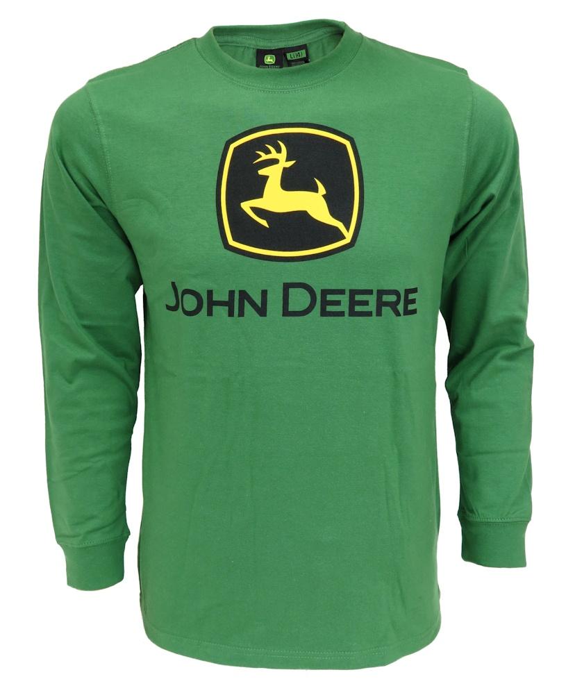 John Deere LOGO Green Long Sleeve Tee Shirt