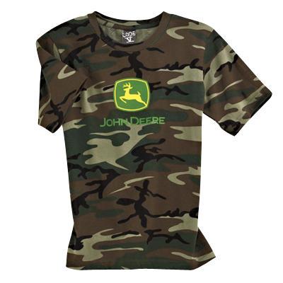 Youth Camouflage John Deere T-Shirt | WeGotGreen.com