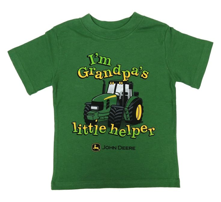 John Deere ` I`M Grandpa`s Little Helper` S/S Green Tee Shirt