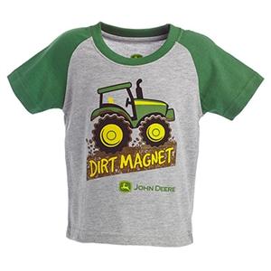 John Deere Infant Boy's Gray Dirt Magnet Tee | WeGotGreen.com