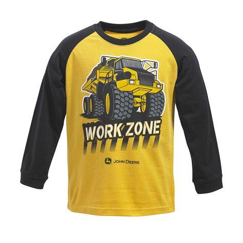 John Deere Boys Work Zone Long Sleeve Raglan T-shirt: Shopko