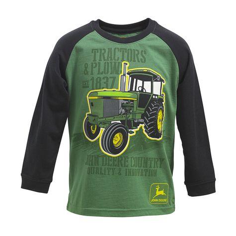 John Deere Boys Vintage Tractor Long Sleeve Raglan T-shirt: Shopko