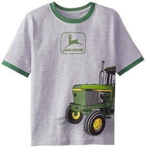 John Deere Little Boys Short Sleeved Tractor Wrap T-Shirt