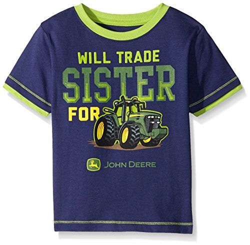 John Deere Boys' Will Trade Sister For Tractor Tee T-Shirt Top…