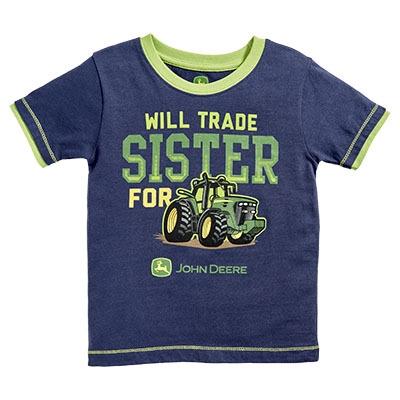 John Deere Infant Boy's Navy Trade Sister Tee   WeGotGreen.com