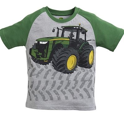 John Deere Boy's Gray Tractor Tread Tee | WeGotGreen.com