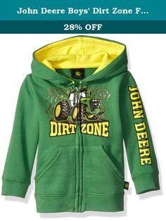 John Deere Boys' Dirt Zone Fleece, Green, 24 Months. Boys zip up ...