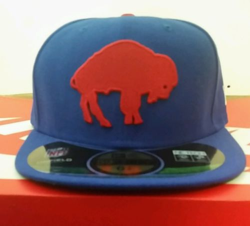 New Era 6 7/8 Nfl Cap Buffalo Bills Royal Blue Red On Field Fitted ...