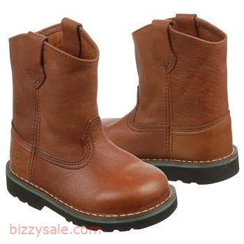 Boots >John Deere Brown Boot Kids' Wellington Cowboy Toddler Walnut ...