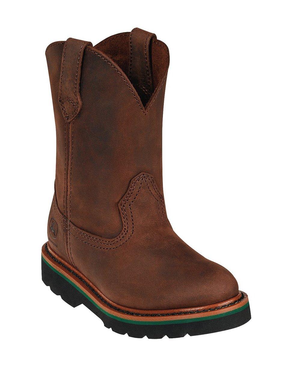 John Deere Boy's Classic Pull-On Boot - Gaucho