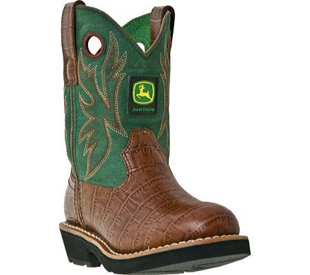 Childrens John Deere Boots Classic Pull-On 2134 - FREE Shipping ...