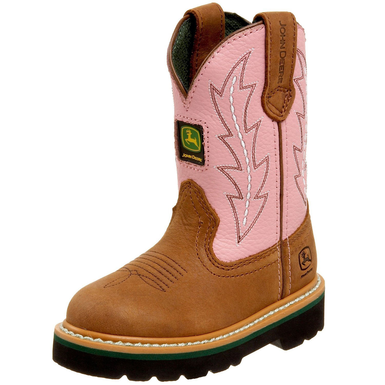 ... John Deere Children's Wellington Boots are made of waterproof leather