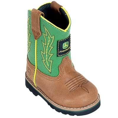 Kids > Kids Boots > John Deere Boots: Infants' Leather Cowboy Boots ...