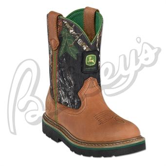 John Deere Jd2188 Children's Wellington Boot In Tan & Camo | Camo ...