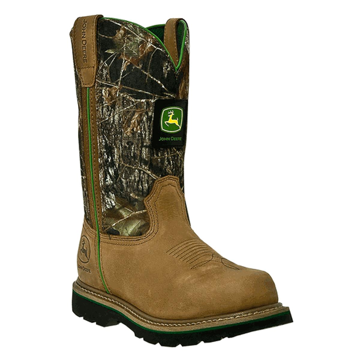 ... about John Deere Men's Tan and Camo Wellington Work Boots JD4148