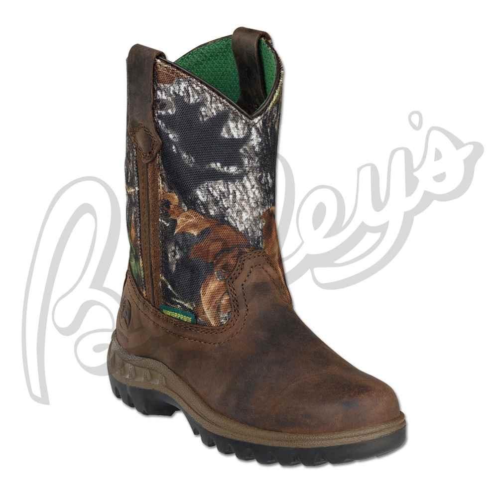 John Deere Jd2468 Children's Mossy Oak Waterproof Pull On Boot | Camo ...
