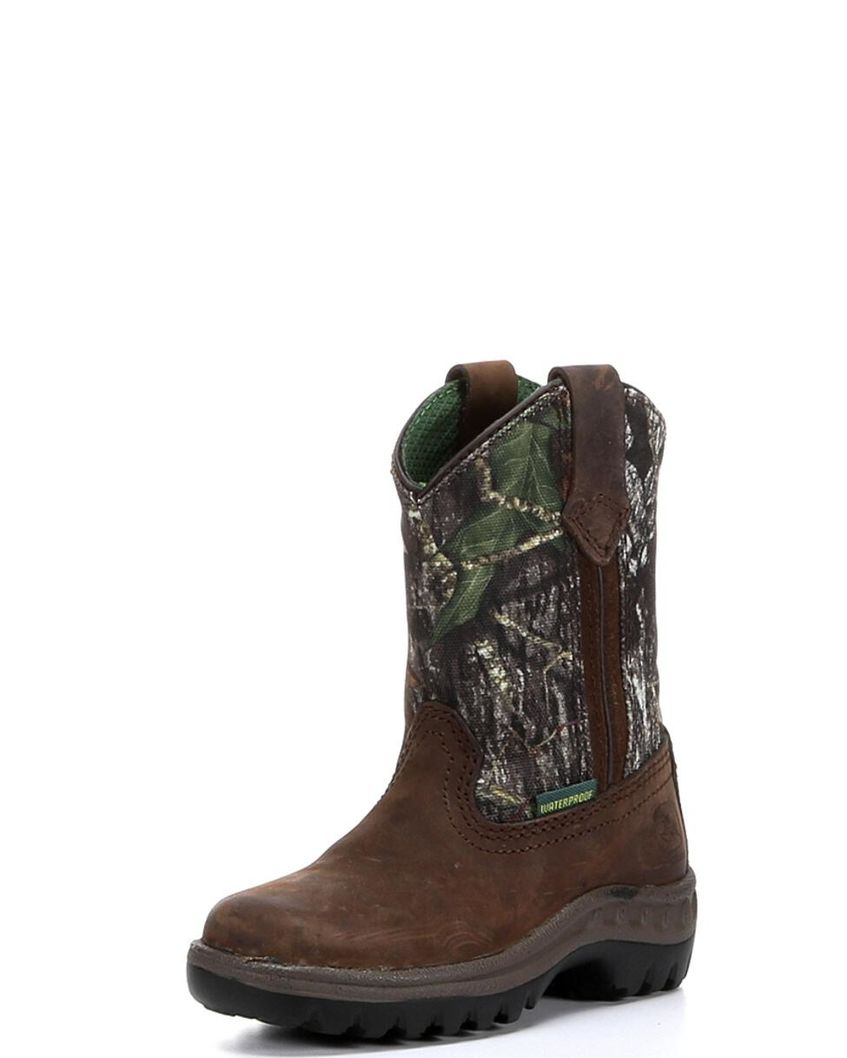 John Deere | Boy's Waterproof Pull-On Boot - Mossy Oak | Country ...