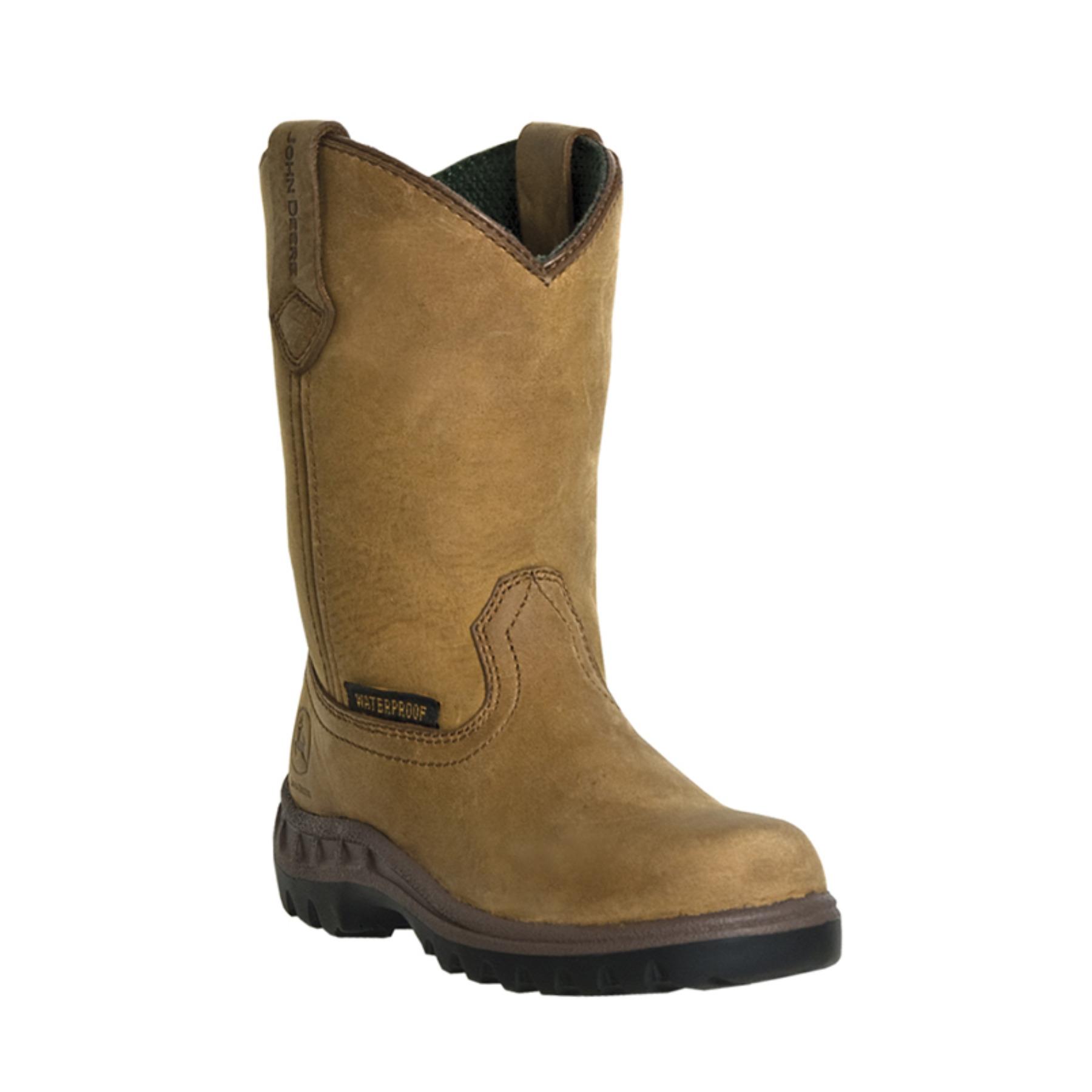 John Deere John Deere Waterproof Mossy Oak Kid's Leather Boots ...